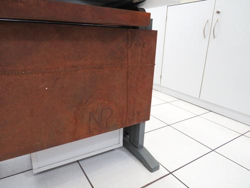 Büro Tischabdeckung - Rostoptik