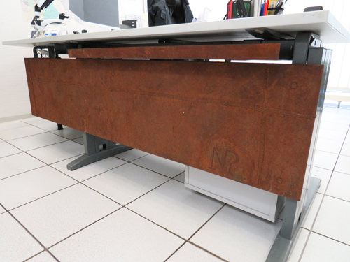 Büro Tischabdeckung - Rostoptik in Lohne