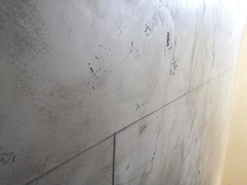 Betonplatten Optik - strukturiert - Malerbetrieb Poplawski