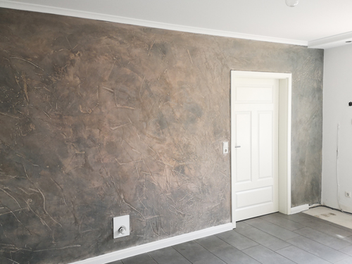 Küchenwand und Treppenaufgang - Lohne Poplawski Maler