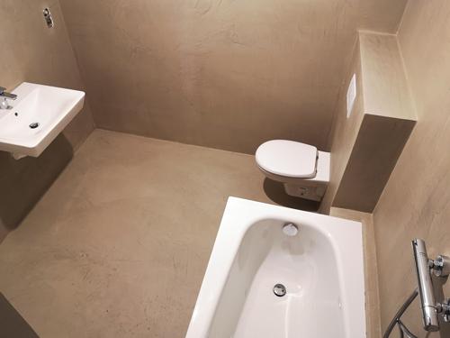 Mikrozement und Versiegelung - Badezimmer fugenlos