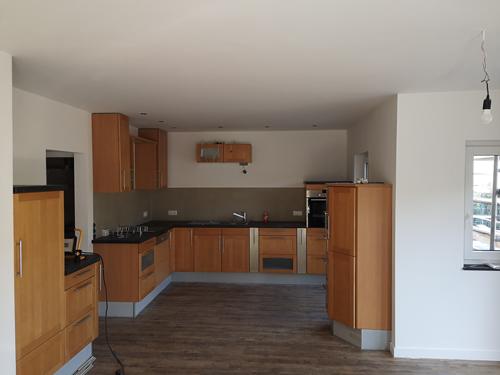Küche in Holzoptik  Malermeister Poplawski